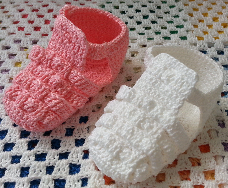 Melissa de Crochê - Versão para DESTRAS | Sapatinhos de crochê ...