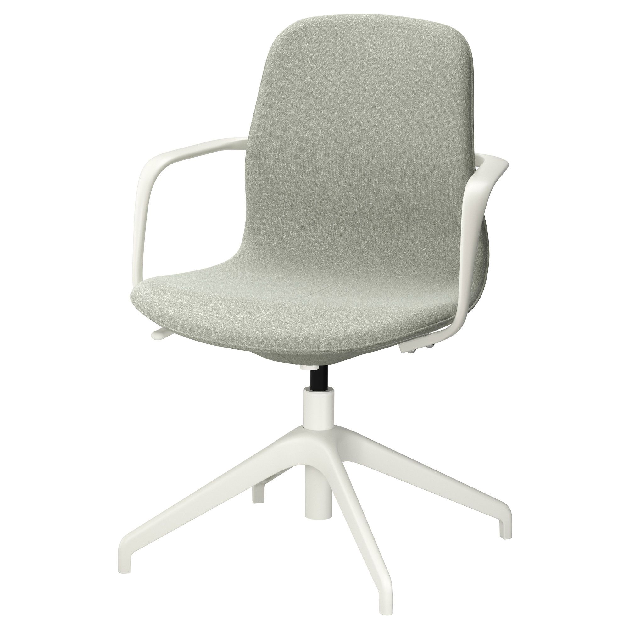 ikea ergonomic office chair. IKEA LÅNGFJÄLL Swivel Chair Gunnared Light Green/white An Ergonomic Office With Lightly Curved Ikea O