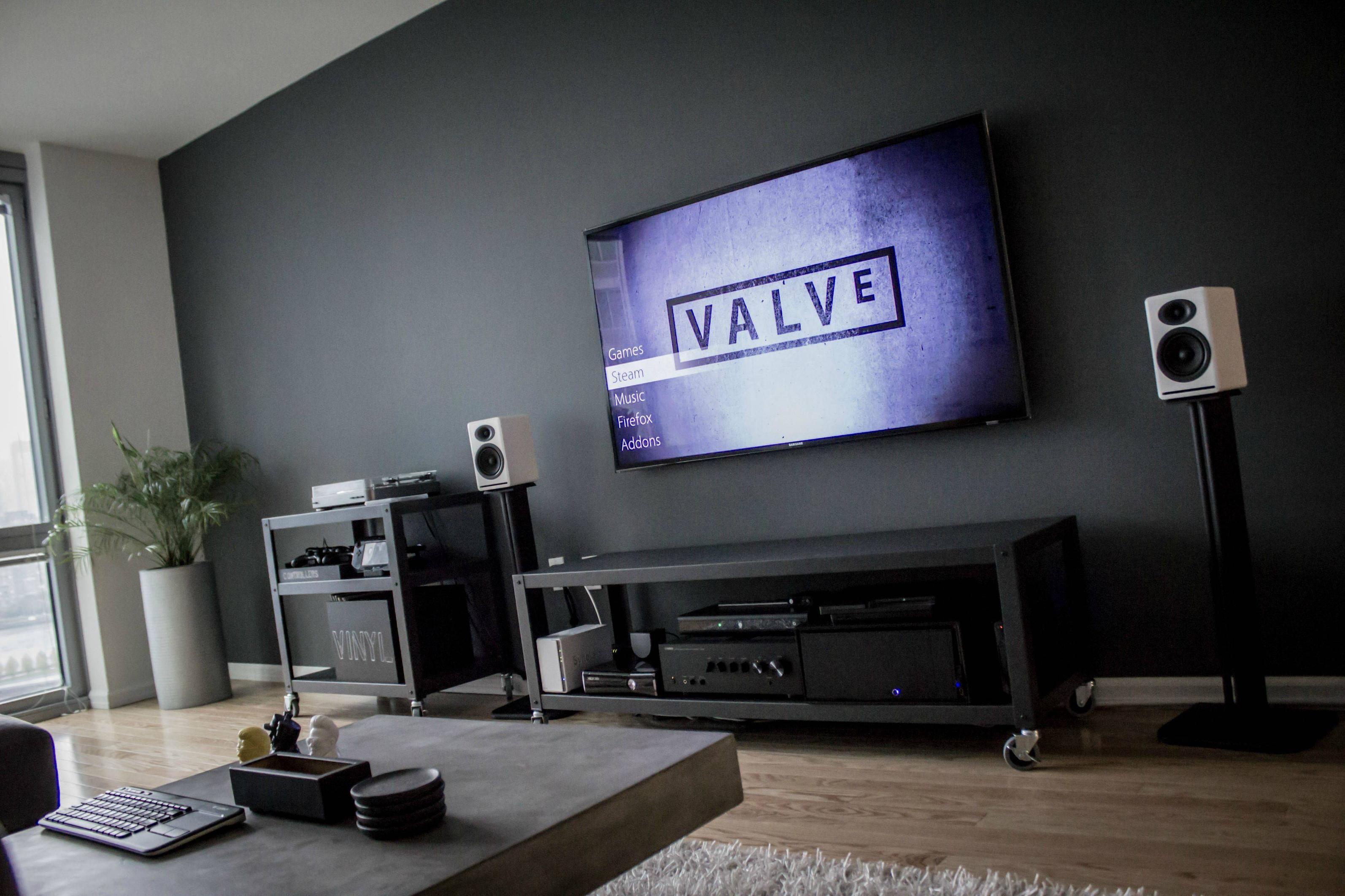 Battlestation | Living room setup, Small apartment living ...