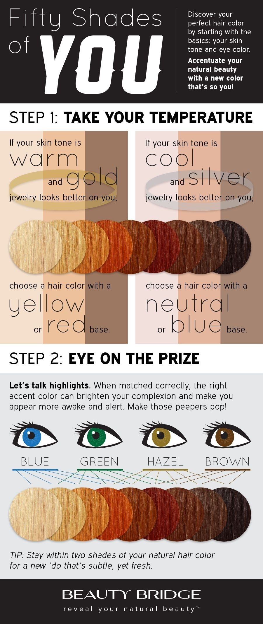 Find Your Perfect Hair Color Based On Your Skin Type And Eye Color
