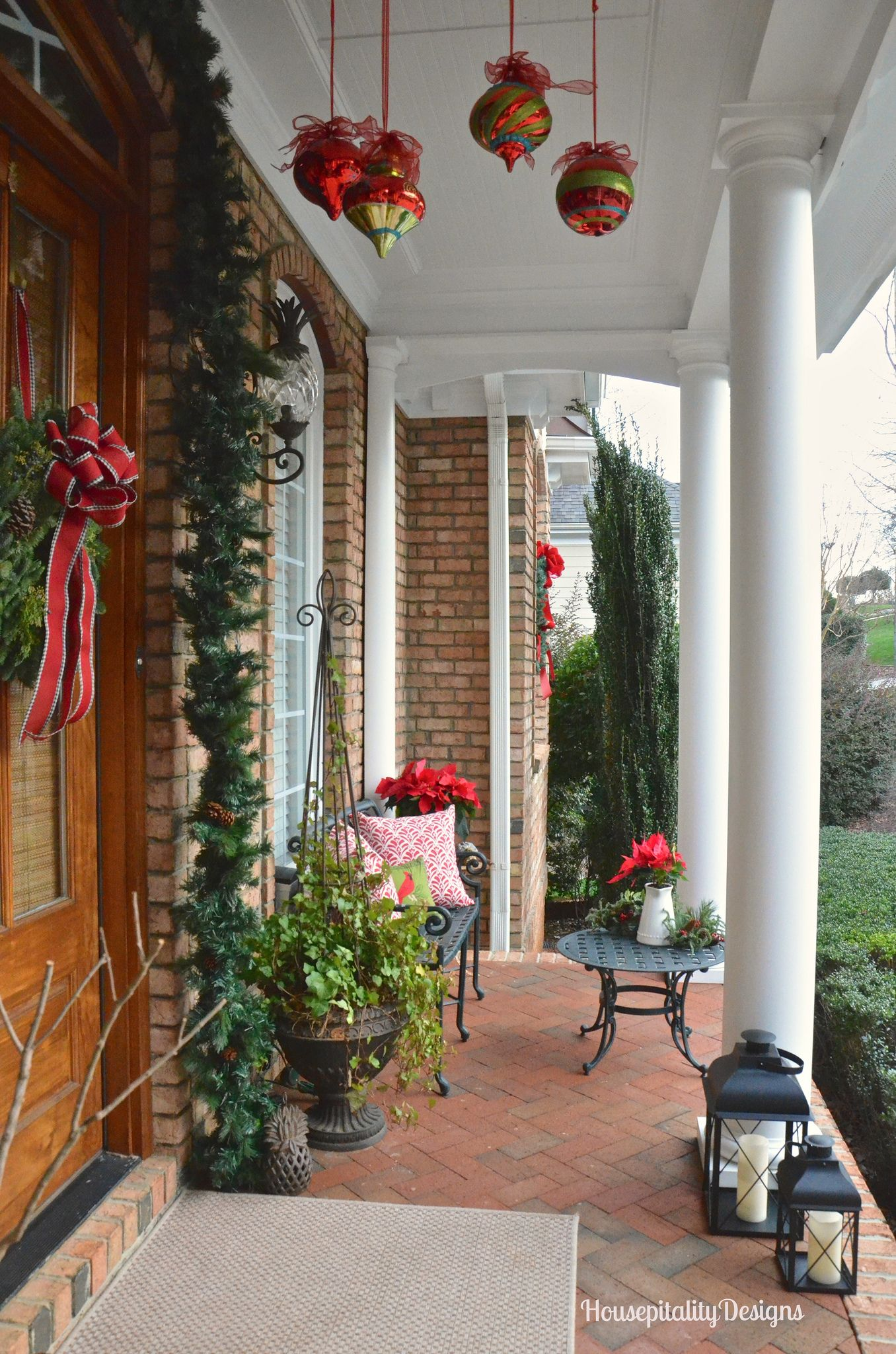 Christmas 2015 Front Porch with Rudy | Front porch ...