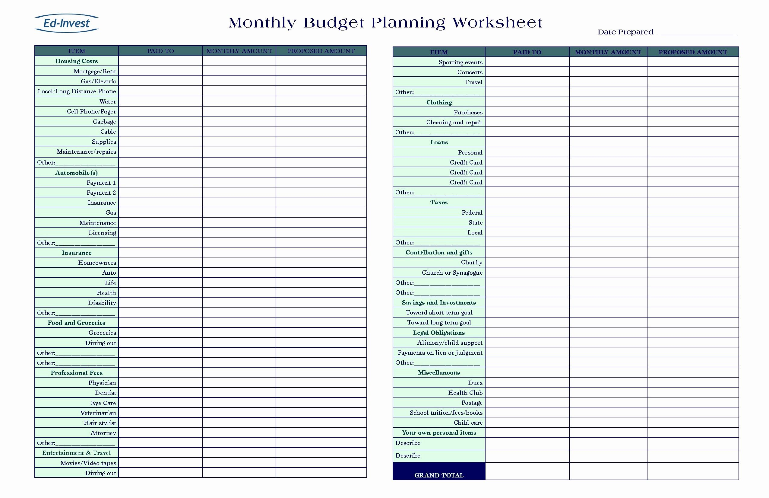 New Business Expense Sheet