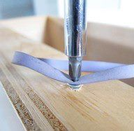 Rubberbands - the answer to stripped screws....I think I knew this....