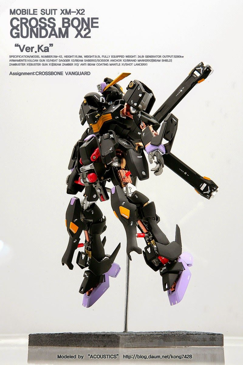 MG 1/100 XM-X2 Crossbone Gundam X2 'Open Hatch' - Customized Build Modeled by Acoustics