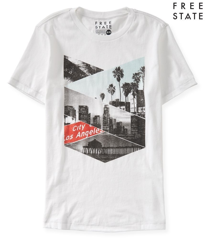 aeropostale mens free state city of los angeles graphic t shirt