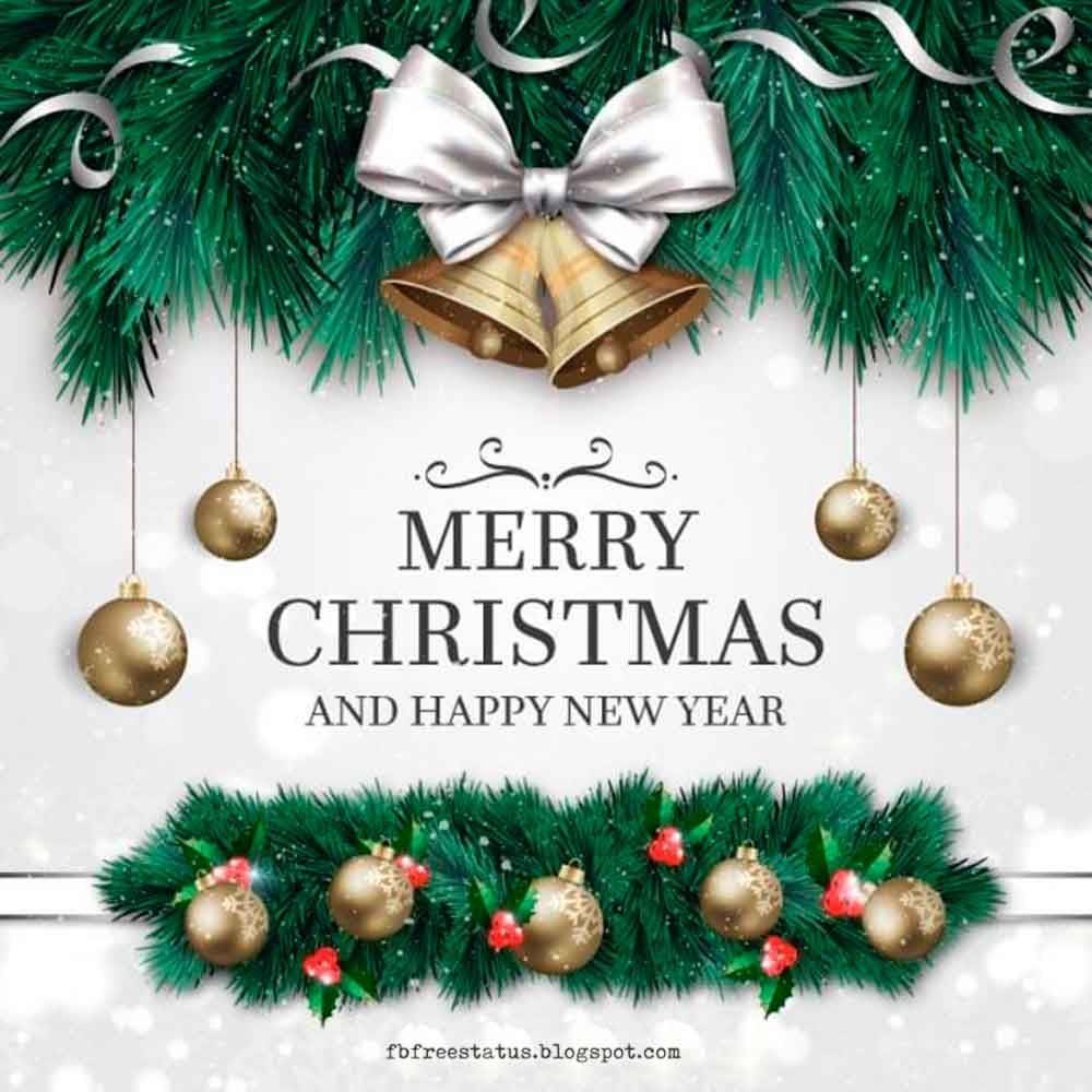 Merry Christmas And Happy New Year Wishes With Images Merry