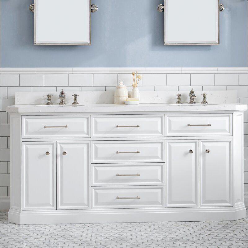 """2200 House of Hampton Oliphant Quartz 72"""" Double Bathroom"""