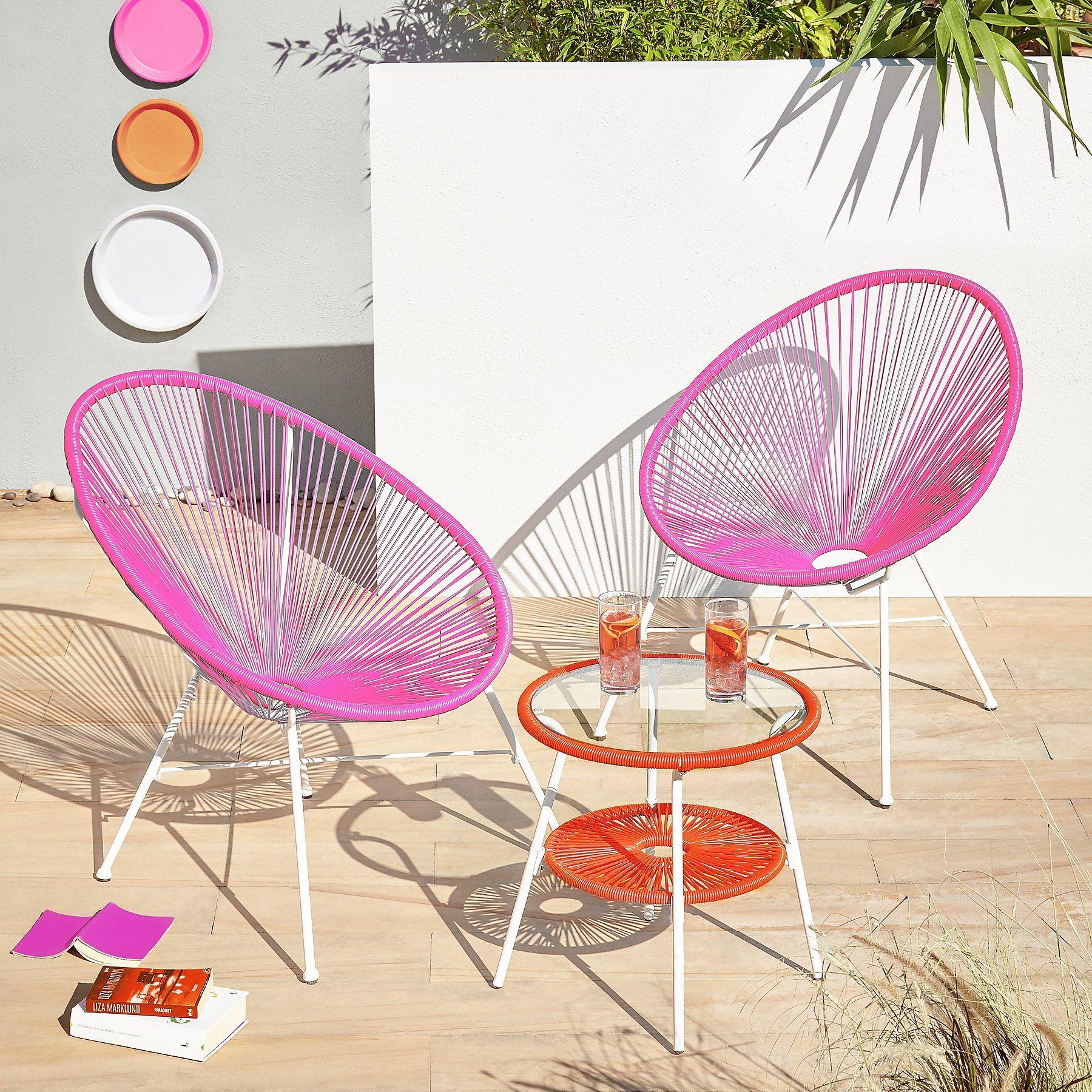 Camden 3 Piece Bistro Set Pink And Orange Home Garden George Bistro Set 3 Piece Bistro Set Outdoor Patio Furniture Sets