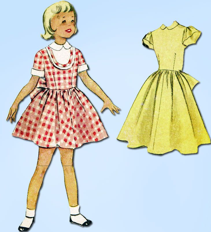 1950s Vintage McCalls Sewing Pattern 9054 Sweet Toddler Girls Dress ...