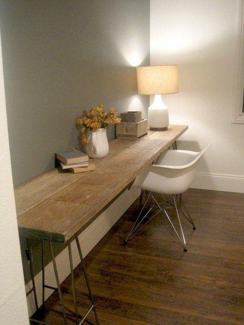 Schreibtisch selber bauen ikea  schreibtisch selber bauen bunt holz preisgünstig minimalistisch ...