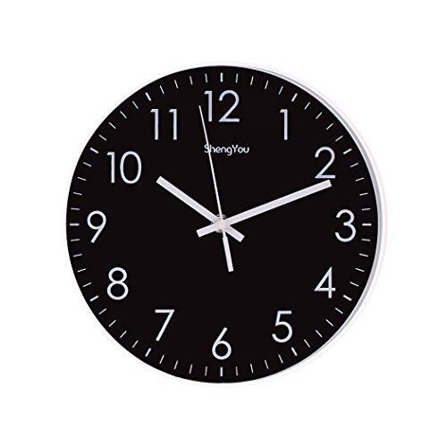 Sonyo Indoor Non Ticking Silent Quartz Modern Simple Wall Clock Digital Quiet Sweep Movement Office Decor 10 Inch Bluegreen