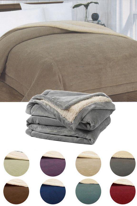 Ultra Plush Sherpa Comforter   Comforter, Plush and Blanket