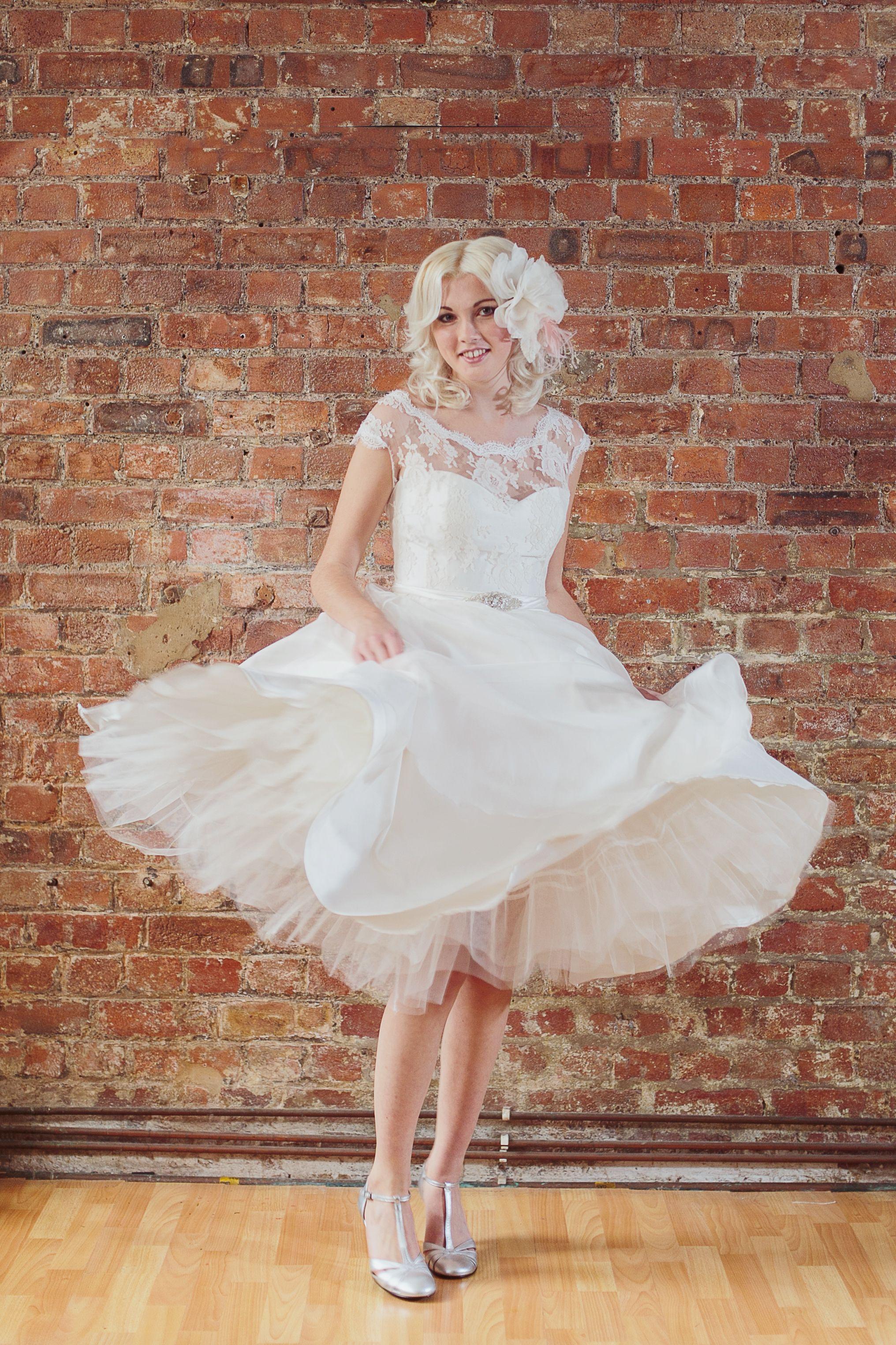 1950s style wedding dresses  Fifties style wedding dress designed by Dana Bolton