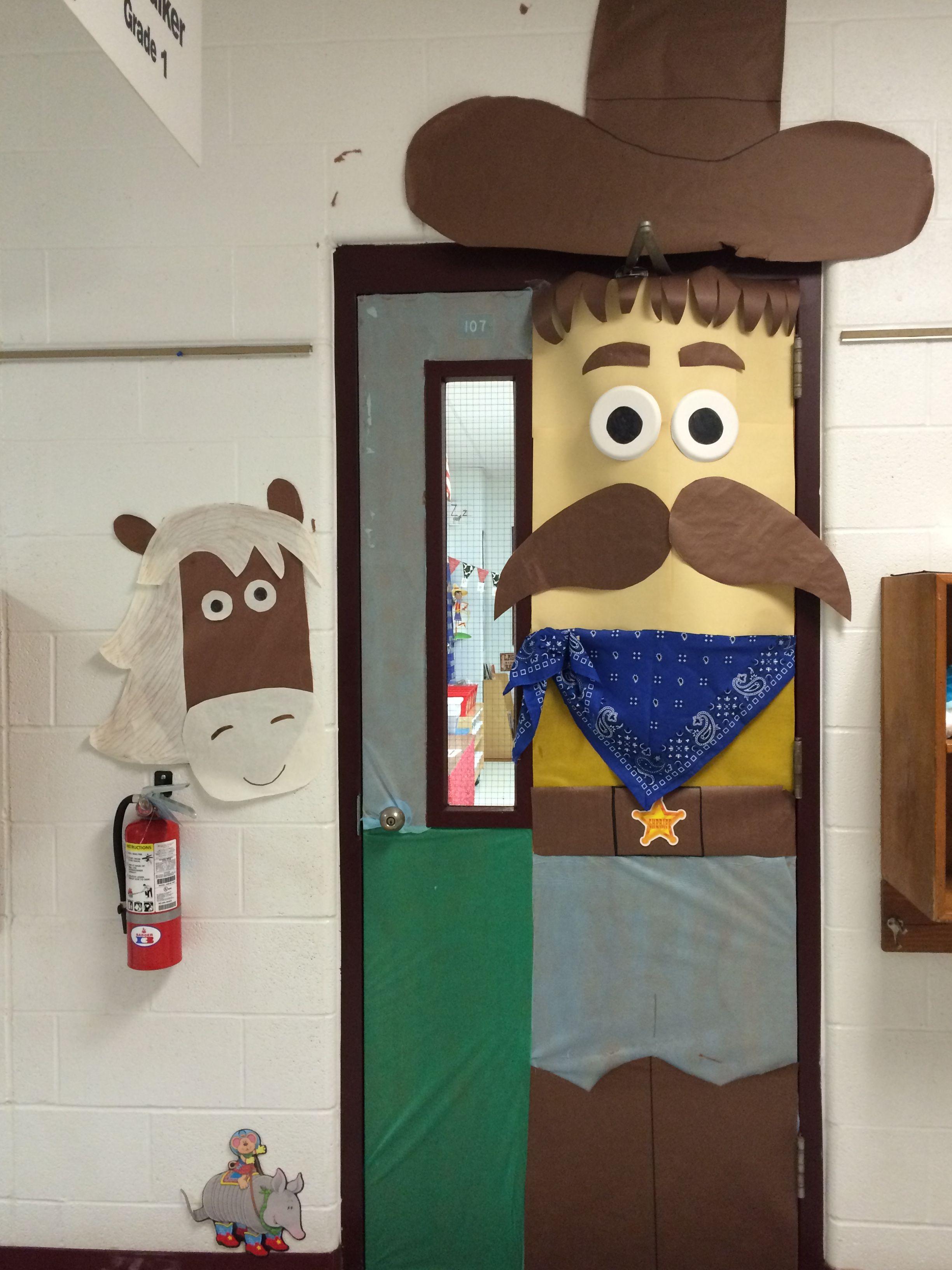 Western classroom door | School | Pinterest | Classroom ...