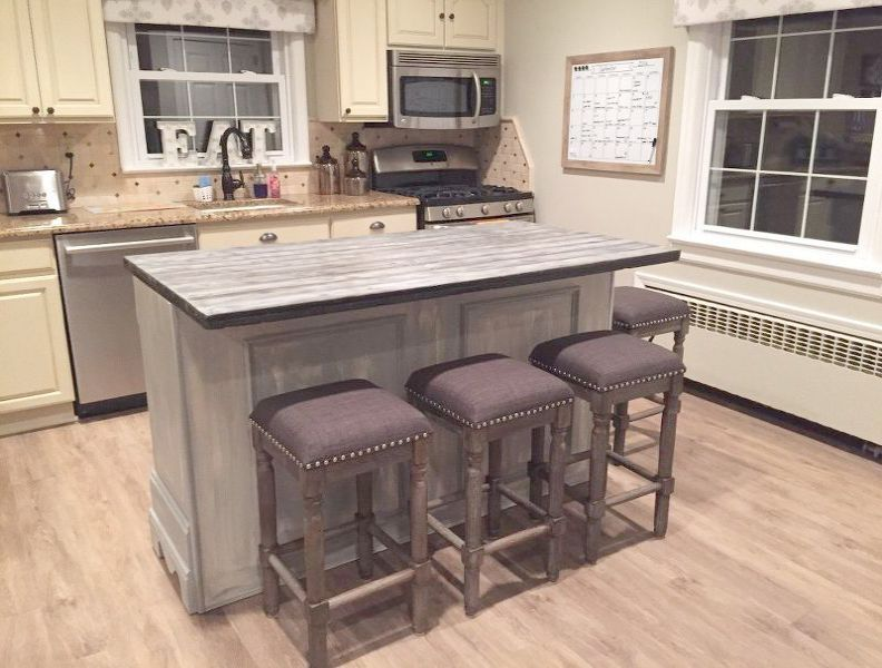 Casual Home Kitchen Island With Solid American Hardwood Top The Furniture Blogger Diy Kitchen Remodel Home Kitchens Kitchen Remodel