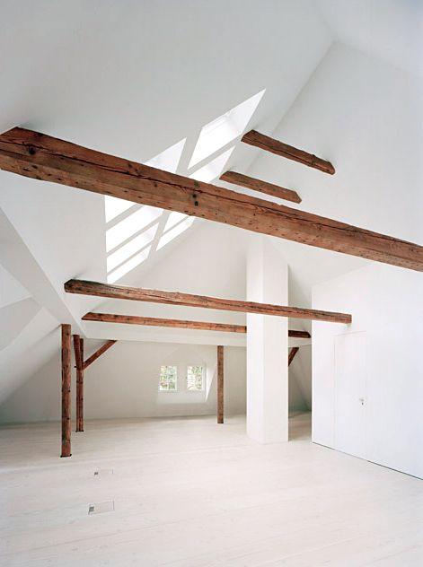 rooftop space INTERIOR - EMPTY SPACES Pinterest Rustikal - holzbalken decke interieur modern