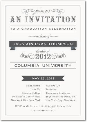 Graduation Invitations Title of Graduation - Front  Milk For - graduation program