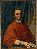 Portrait of cardinal Vitaliano Borromeo by unknown Lombard artist, oil on canvas, Copy after Antonio De Giorgi