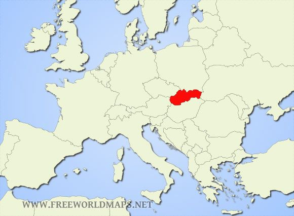 HistoryThis Is Picture Of Slovakia The Czech Republic And - World map in czech language
