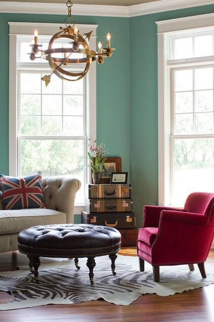 One Of My Favorite Ways To Re Purpose Use Old Suitcases As Storage And Or A Side Table With Images Decor Traditional Living Room Room