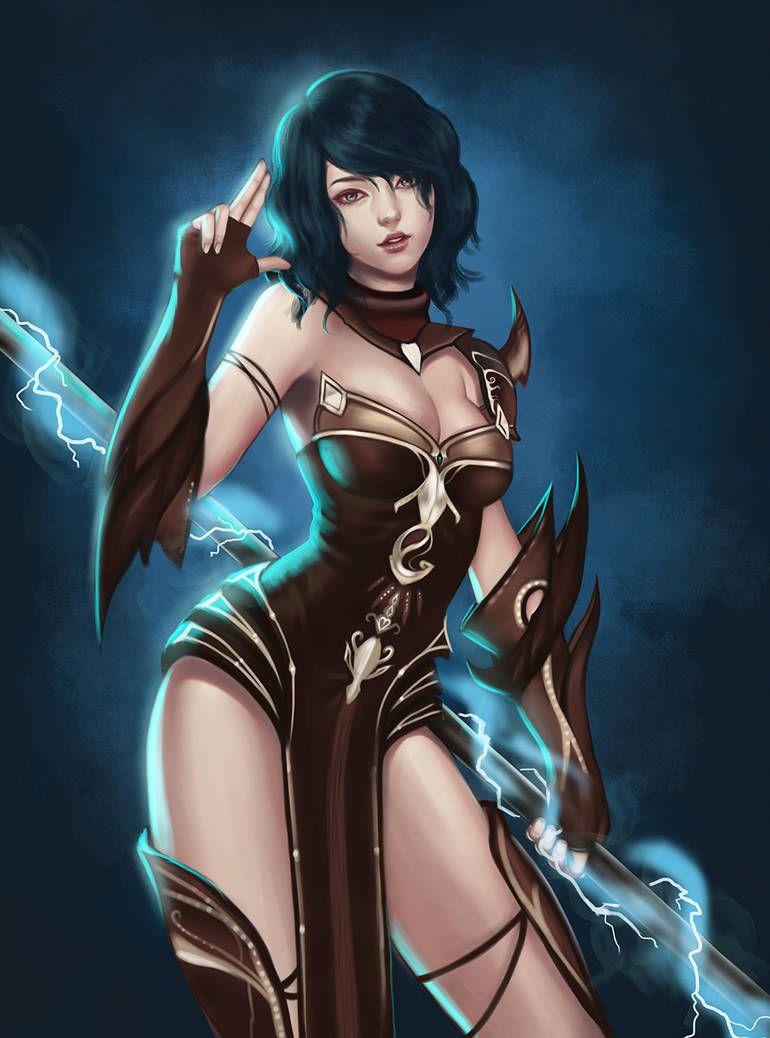 C9 Shaman By Npye13 Fantasy Female Warrior Fantasy Art Women