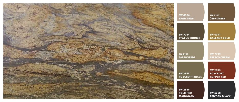 Paint Colors With Yellow River Granite