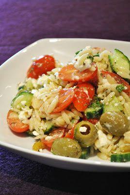 griechischer nudelsalat veggie food pinterest. Black Bedroom Furniture Sets. Home Design Ideas