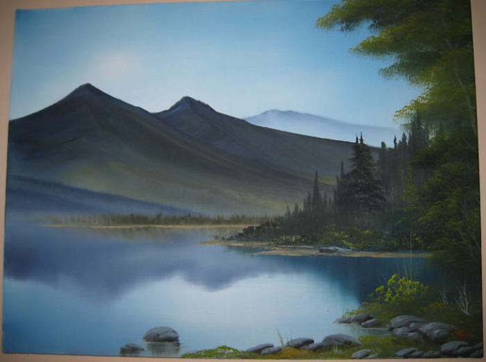 Appears To Be His Signature Bob Ross Art The Joy Of Painting Learn To Paint