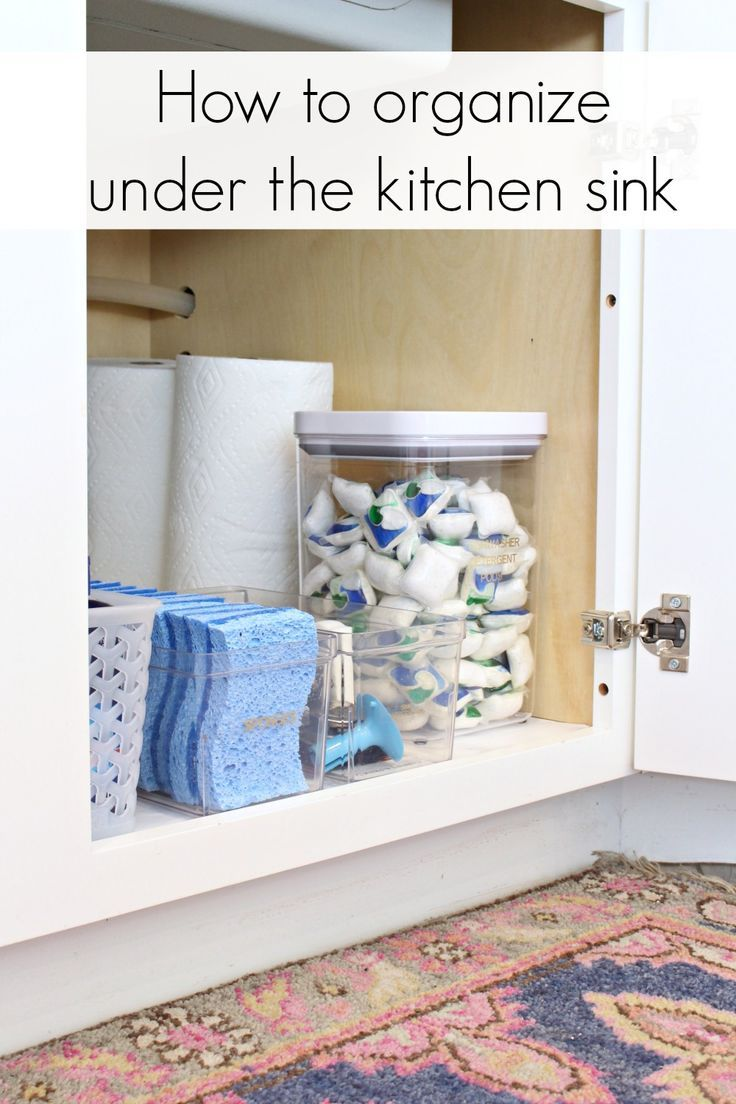Under the Sink Kitchen Cabinet Organization Ideas #cabinetorganization