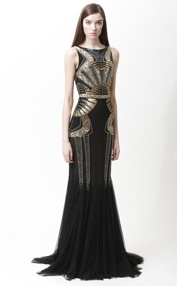 920 S Badgley Mischka Gatsby Glam Evening Dress Deco