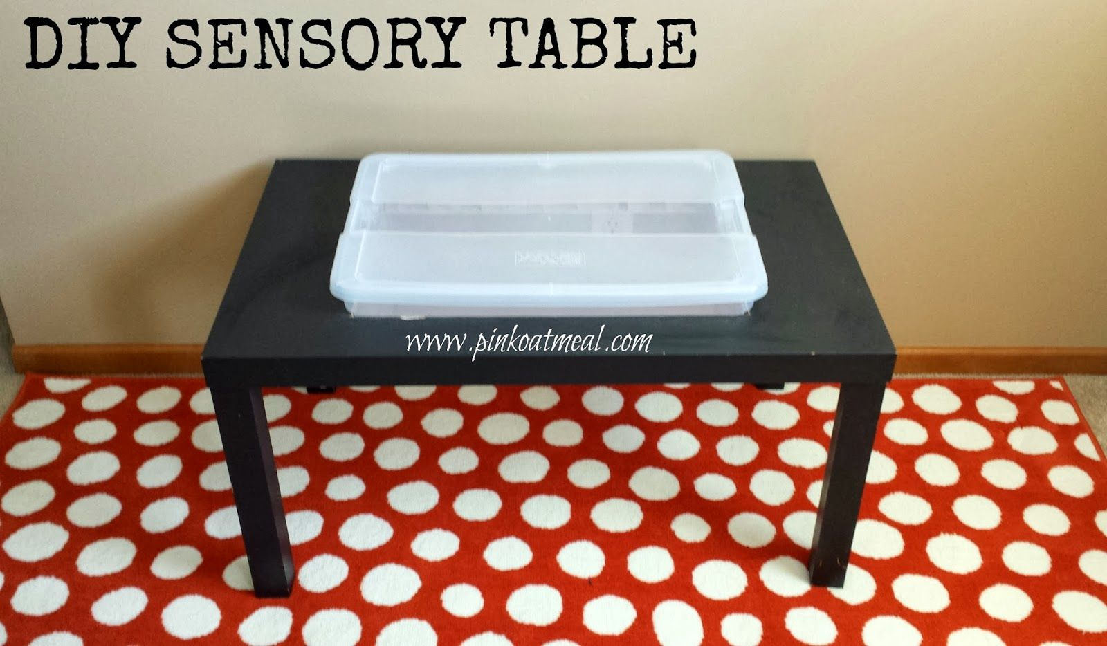 how to build a sensory table