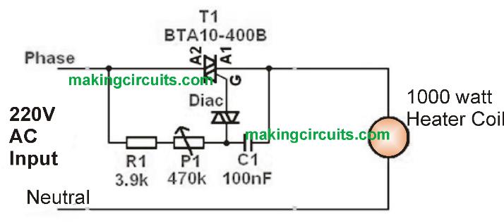 Thyristor Heater Control Circuit Facias
