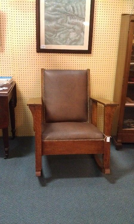 Oversized Upholstered Chair Phil Teds Me Too Portable High Recall Man S Antique Mission Oak Rocking This Great Is Very Comfortable And