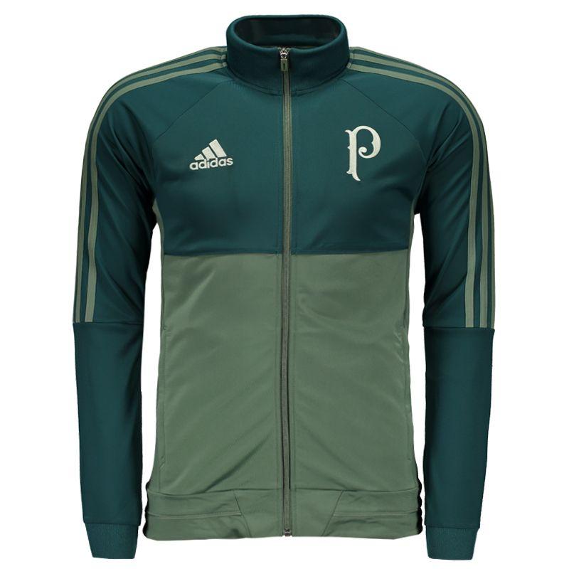 Agasalho Adidas Palmeiras Viagem 2017 Verde Somente na FutFanatics você compra  agora Agasalho Adidas Palmeiras Viagem 26efc8a8a3060