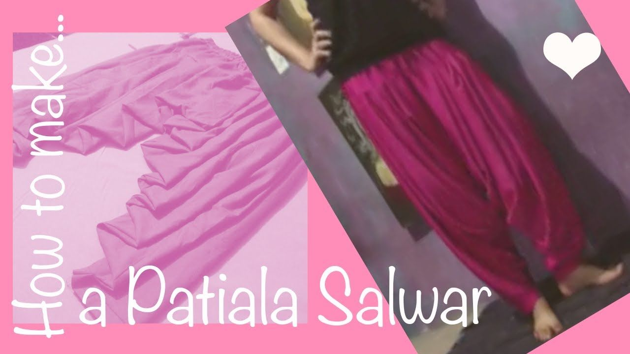 ☁ How to make a perfect patiala salwar ♥ full video tutorial