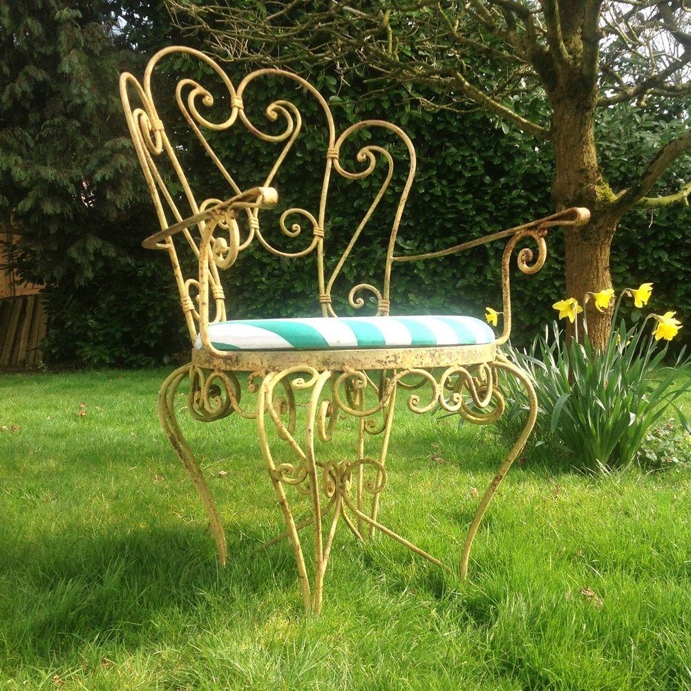 unusual vintage garden chair iron garden armchair french style garden furniture