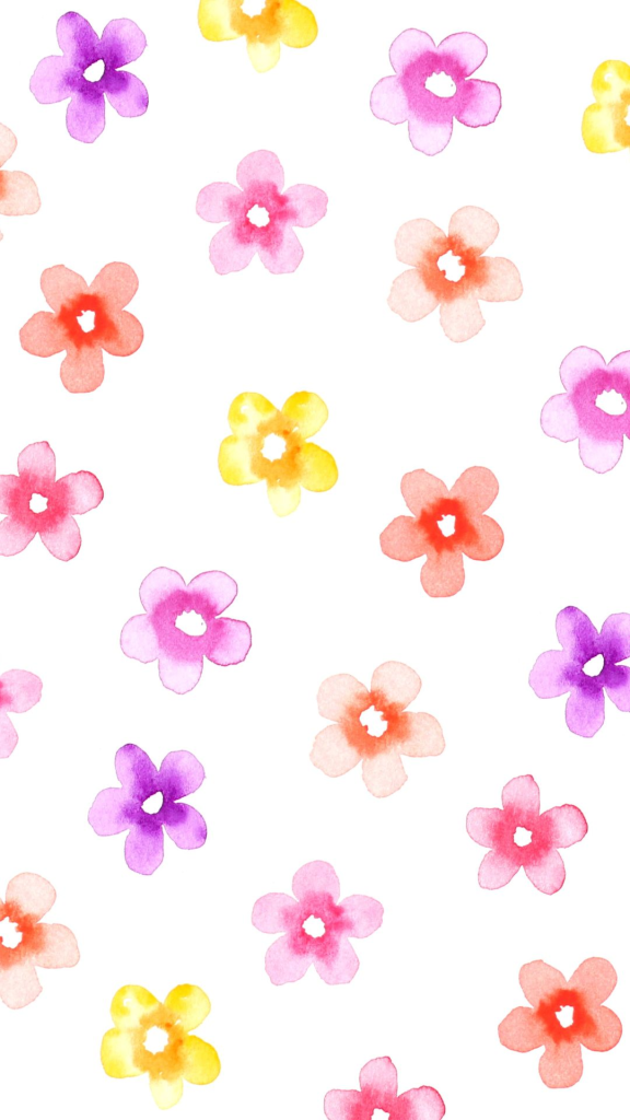 Small Watercolor Flowers - Spring Wallpaper @linesacross for ...