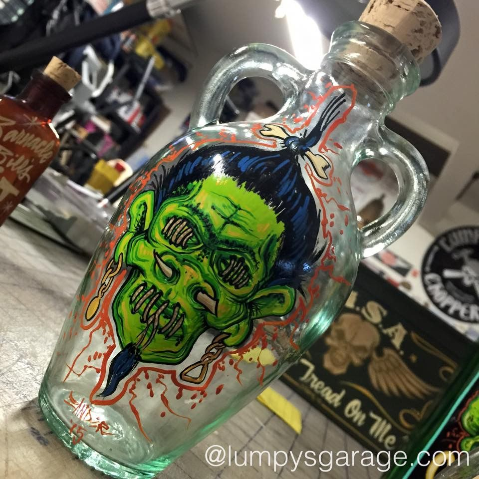 Lumpysgarage Bottle Painting Airbrush Art Custom Paint