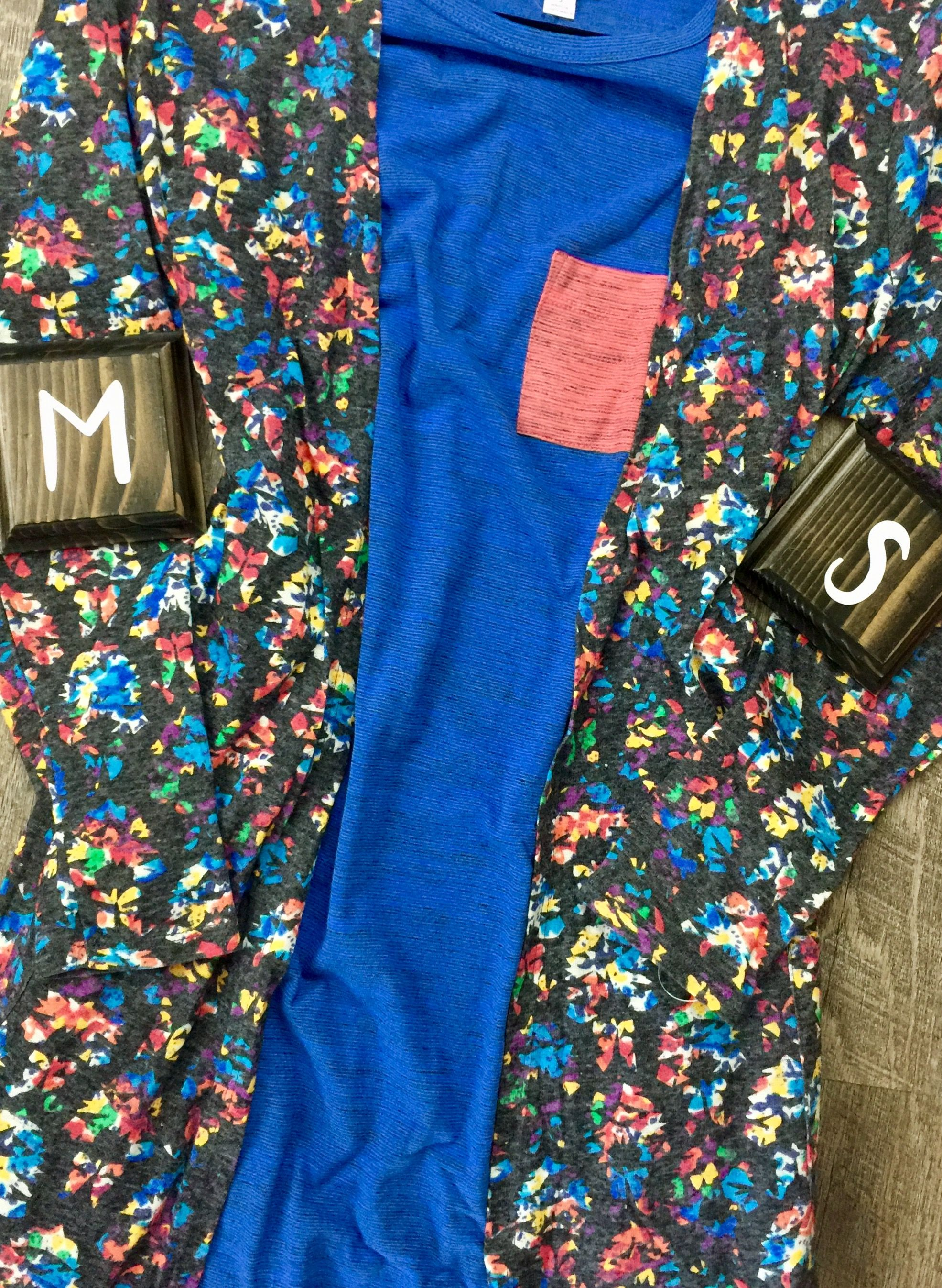 43364d02cf14 M grey and floral Sarah paired with S blue and coral Carly | Lularoe ...