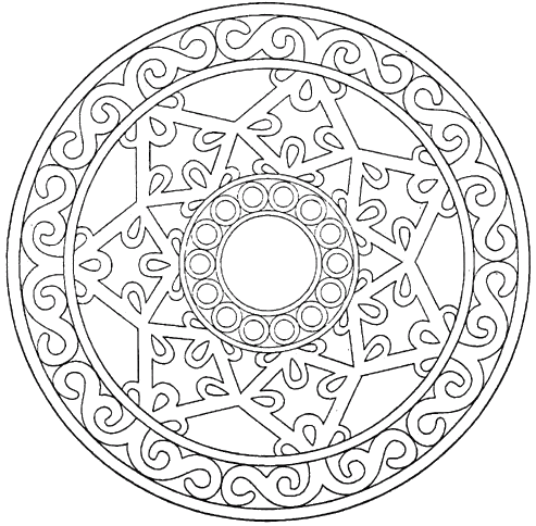 Unique Carved Mandala Coloring Pages Riscos e Rabiscos