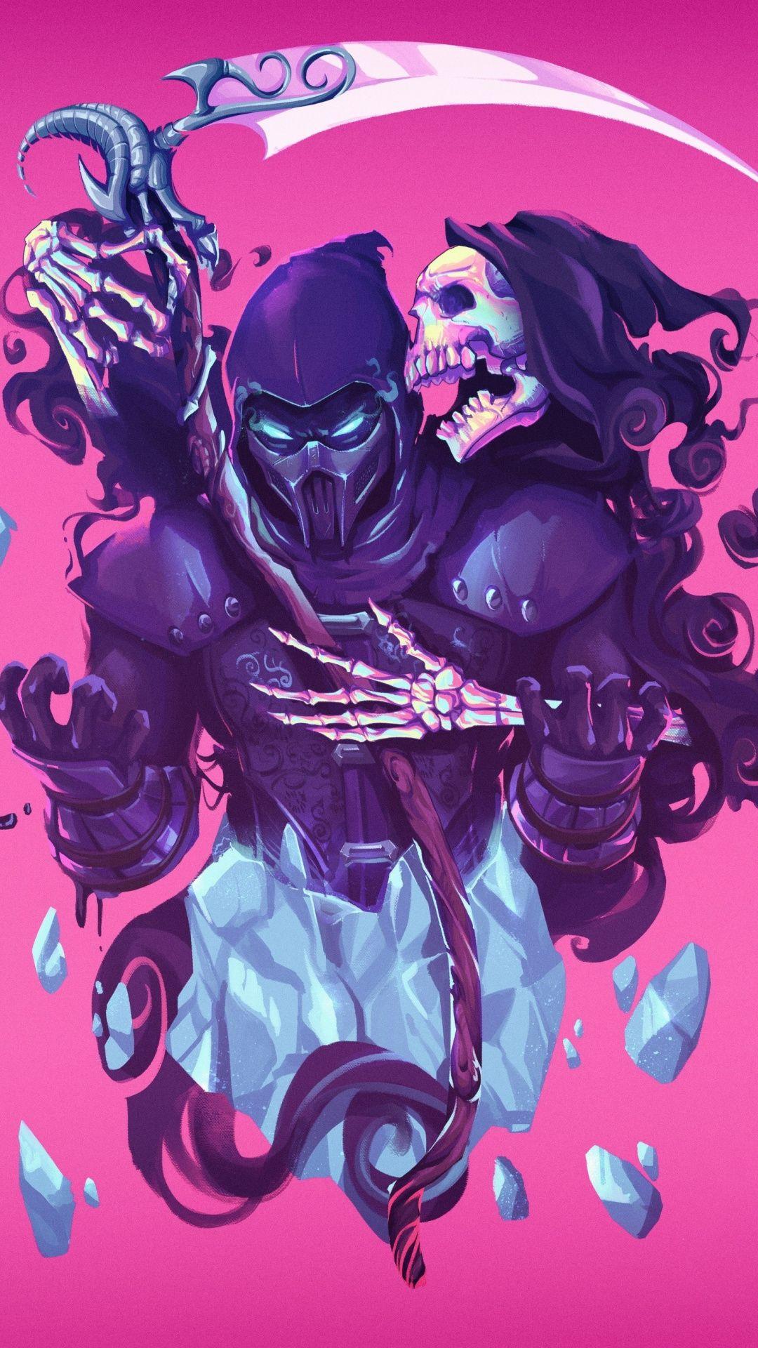 Video Game Mortal Kombat Grim Reaper Artwork 1080x1920 Wallpaper Mortal Kombat Comics Mortal Kombat Art Mortal Kombat X Wallpapers