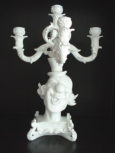 LARGE 5 ARMS CANDELABRA CLOWN