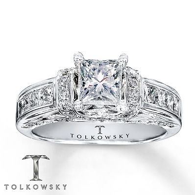 Tolkowsky Engagement Ring 1 3 8 Ct Tw Diamonds 14k White Gold Tolkowsky Engagement Rings Kay Jewelers Engagement Rings Unique Engagement Rings