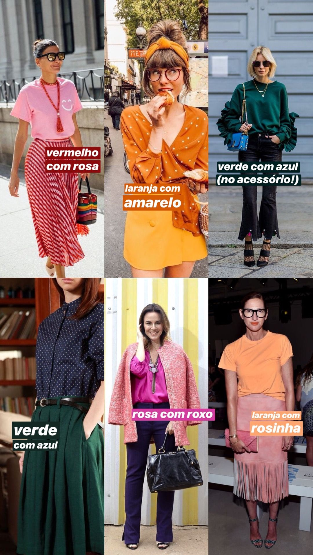 ac8545e53 ideias para fazer combinações com cores análogas: vermelho com rosa,  laranja com amarela, verde com azul, rosa com roxo, laranja com rosa.