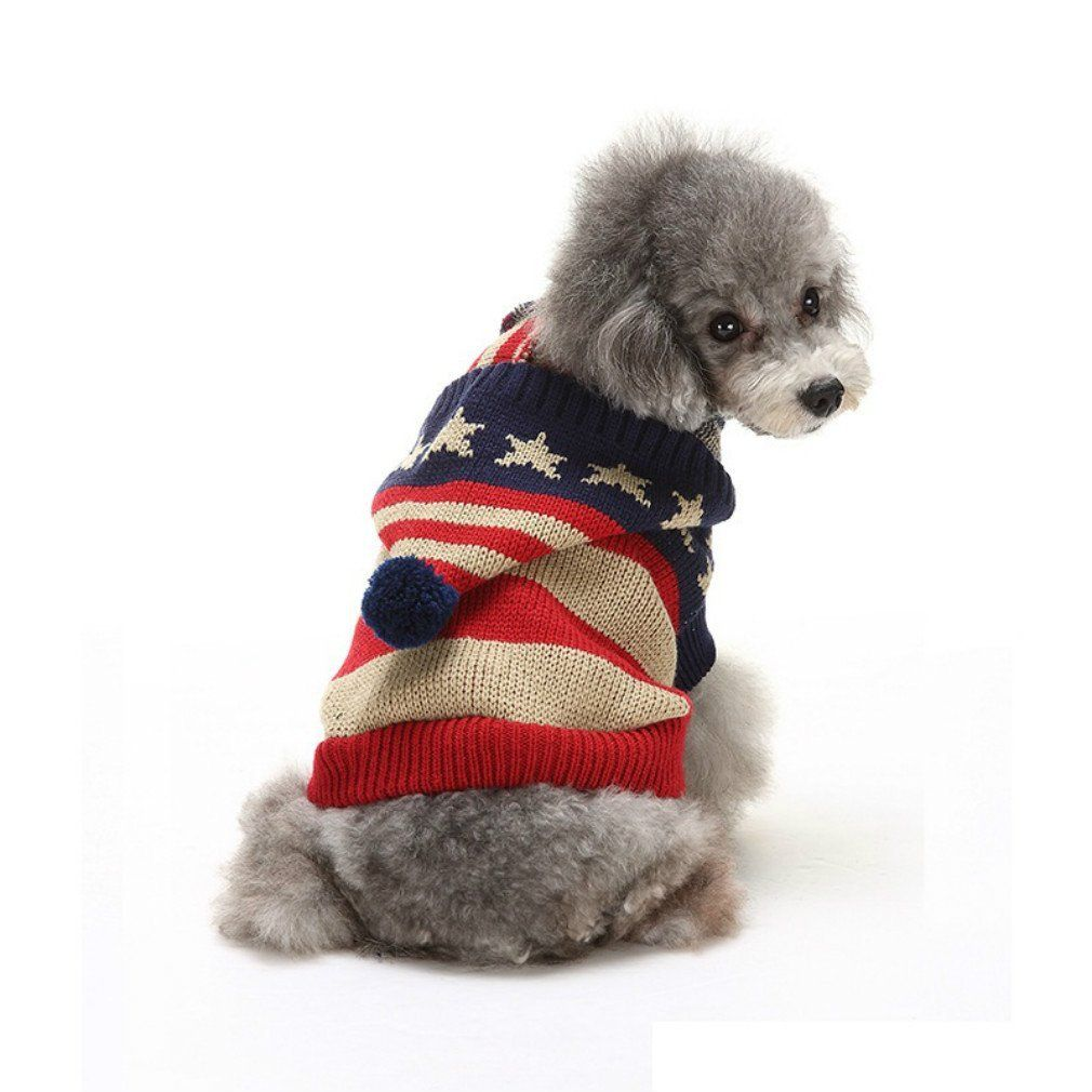 Dog Apparel Clothes Jacket And Sweatshirt Patriotic Usa American