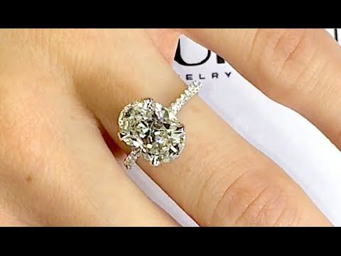 Lauren B 3 Carat Oval Diamond Engagement Ring Rings