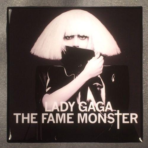 LADY GAGA The Fame Monster Record Cover Art Ceramic Tile Coaster