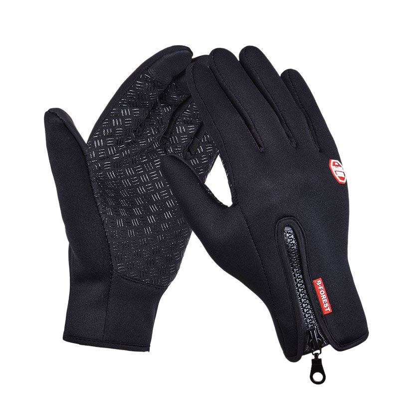 Youngate Winter Leather Glove for Men Touch Screen Windproof Thermal Warm Gloves