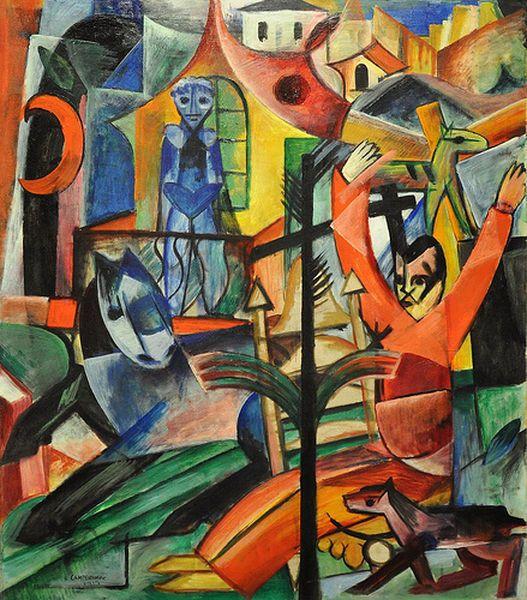 Heinrich Campendonk 1889 1957 Puis Ce Fut L œuvre Der Balkon Peint En 1913 Indeniablement Le Cheval De Gauche Le Comment Peindre Art Traditionnel Cubisme
