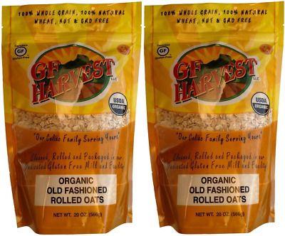 (Sponsored Link) Gf Harvest Gluten Free Certified Organic Rolled Oats, Non Gmo, 20 Oz Bag, Nongmo